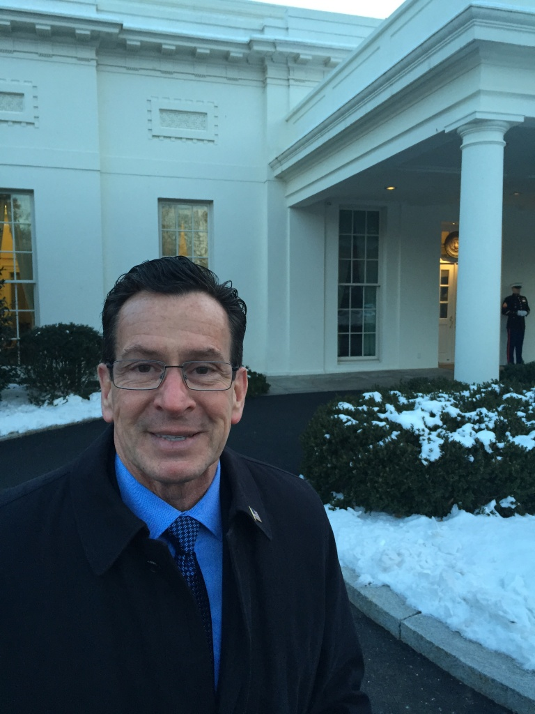 Connecticut Gov. Dannel Malloy at the White House Friday, Feb. 20.